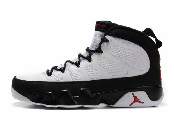 Cheap Wholesale Air Jordan 9 Retro White Black-True Red Cheap Wholesale For Sale Online