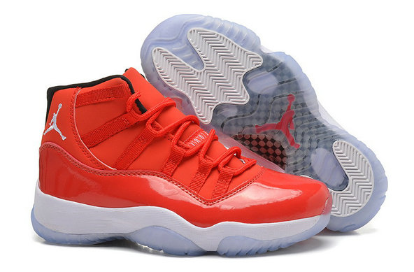 Girls Cheap Wholesale Air Jordan 11 Retro GS Carmelo Anthony PE Red White For Sale Womens Size
