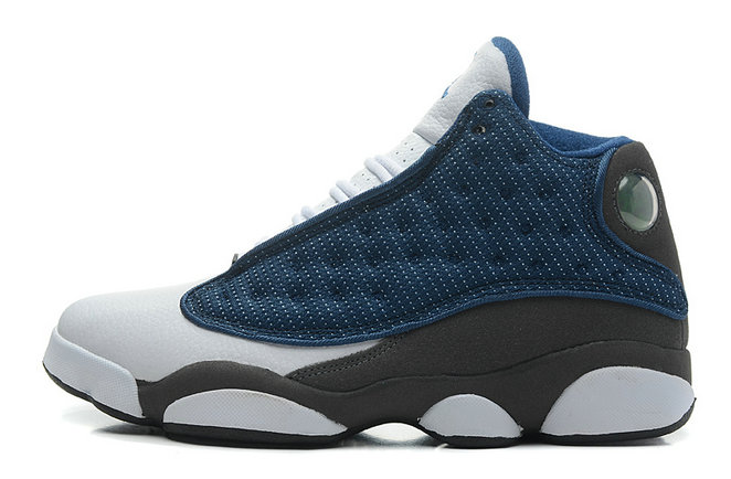 Cheap Wholesale Air Jordan 13 Retro French Blue Flint Grey-White Newest For Sale Online