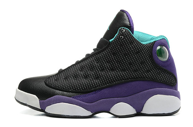 Cheap Wholesale Air Jordan 13 Retro GS Grape Black Atomic Teal-Ultraviolet For Sale