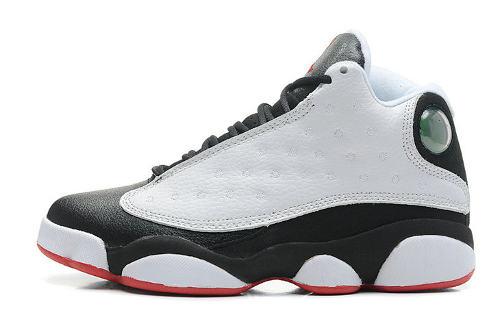 Cheap Wholesale Air Jordan 13 Retro He Got Game White True Red-Black For Sale