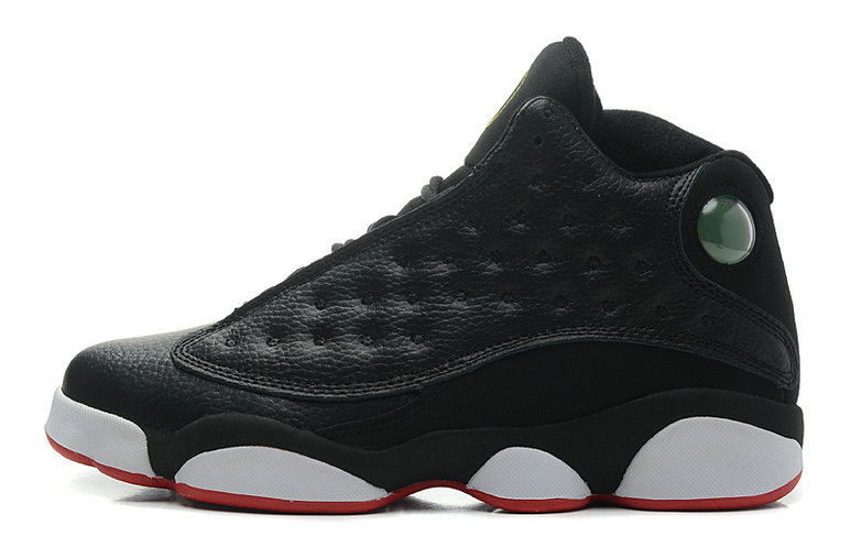 Cheap Wholesale Air Jordan 13 Retro Playoffs Black Varsity Red-White-Vibrant Yellow For Sale