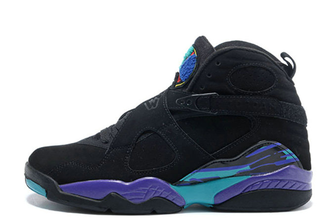 Cheap Wholesale Air Jordan 8 Retro Black Dark Concord-Anthracite-Aqua Tone For Sale