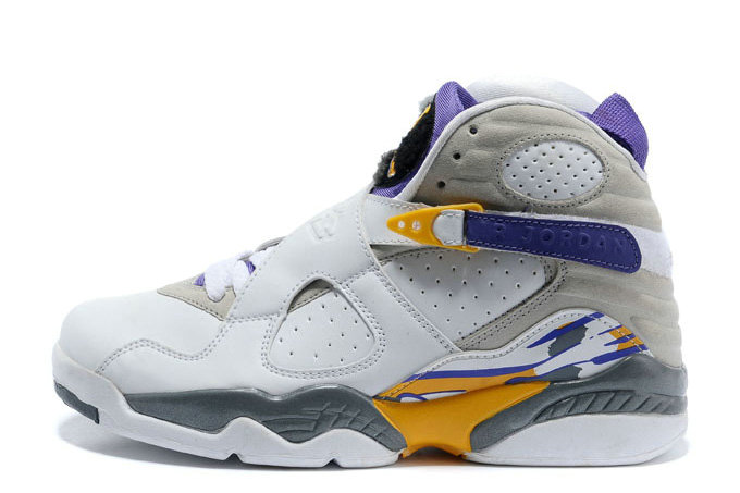 Cheap Wholesale Air Jordan 8 Retro Kobe Bryant Lakers Home PE For Sale Online
