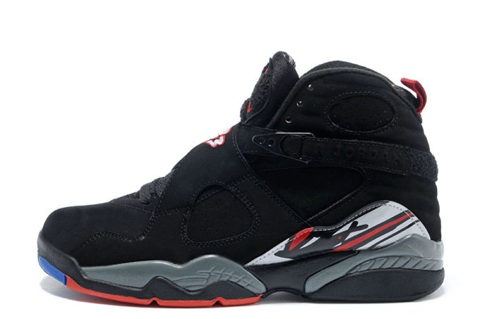 Cheap Wholesale Air Jordan 8 Retro Playoffs Black True Red-White For Sale Online
