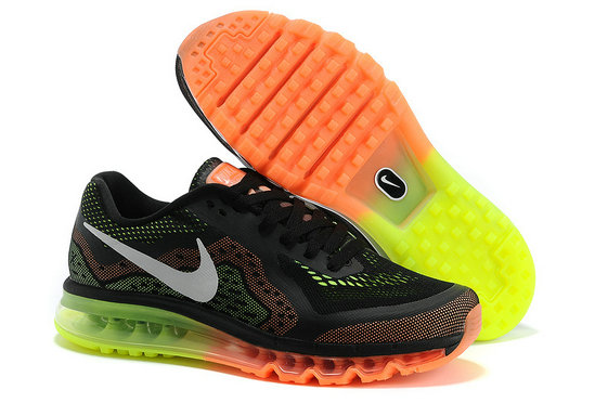 Nike Air Max 2014 Black Orange fluorescent green