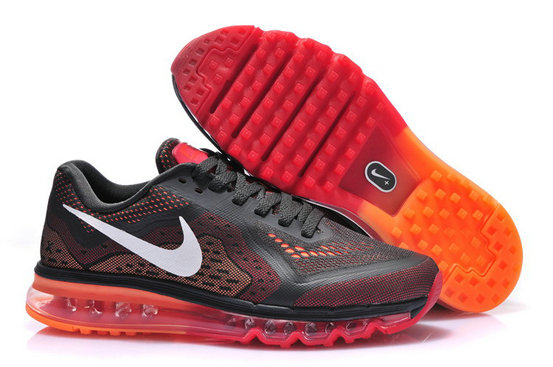 Nike Air Max 2014 Man Black orange Custom