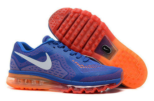 Nike Air Max 2014 Man Blue Orange Custom