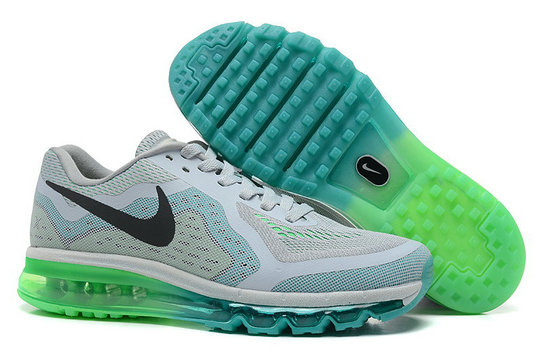 Nike Air Max 2014 Man White Green Custom