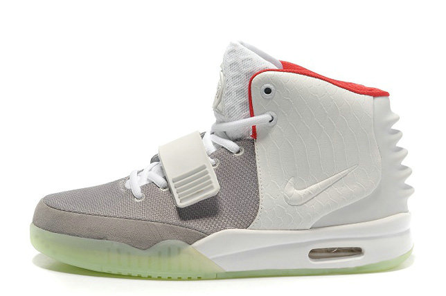 Nike Air Yeezy 2 Wolf Grey Pure Platinum Glow in the Dark For Sale Online
