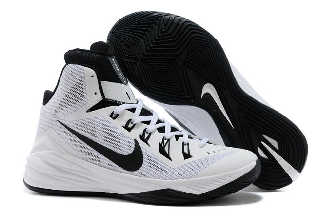 Cheap Wholesale Nike Lunar Hyperdunk 2014 White Black Online For Sale