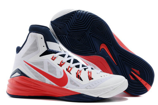 For Sale Cheap Wholesale Nike Hyperdunk 2014 USA White University Red-Obsidian Online