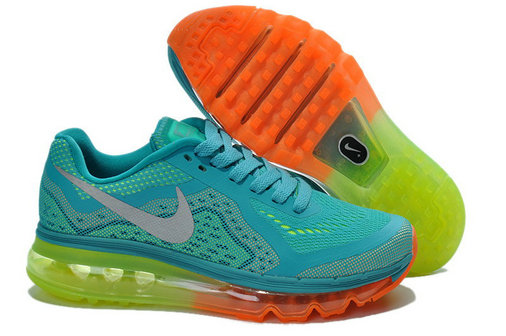 Nike Air Max 2014 May blue green fluorescence GS