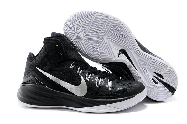 Nike Hyperdunk 2014 Black Metallic Silver Cheap Wholesale For Sale