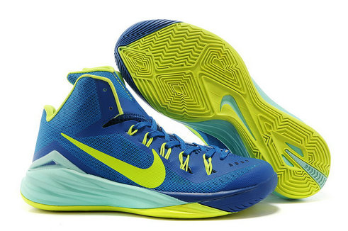 Nike Hyperdunk 2014 Gym Blue Hyper Turquoise Volt Cheap Wholesale For Sale