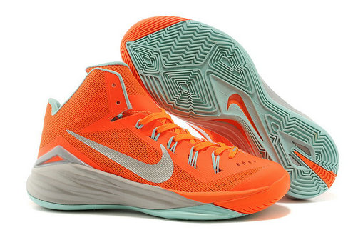 Nike Hyperdunk 2014 PE Orange Blaze Bright Citrus White-Metallic Silver For Sale