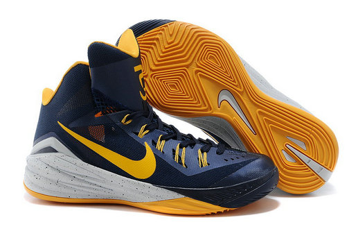 Nike Hyperdunk 2014 PE Midnight Navy University Gold-Cement Grey For Sale