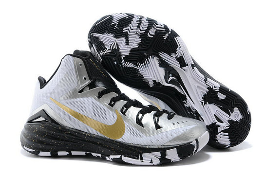 Nike Hyperdunk 2014 White-Black Metallic Gold For Sale Online