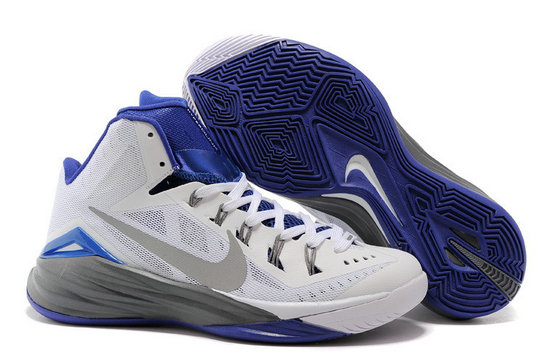 Nike Hyperdunk 2014 White Dark Grey-Royal Blue For Sale
