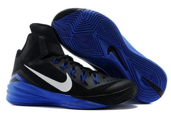 Online For Sale Nike Lunar Hyperdunk 2014 Black Royal Blue-White For Cheap Wholesale