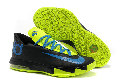 more photos 9a6d6 64b59 ... Nike Kevin Durant KD 6 VI Black Blue Green For Sale Online