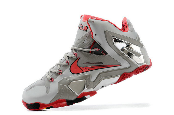 New Nike LeBron 11 Elite Team Wolf Grey Crimson-Cool Grey-Black For Sale