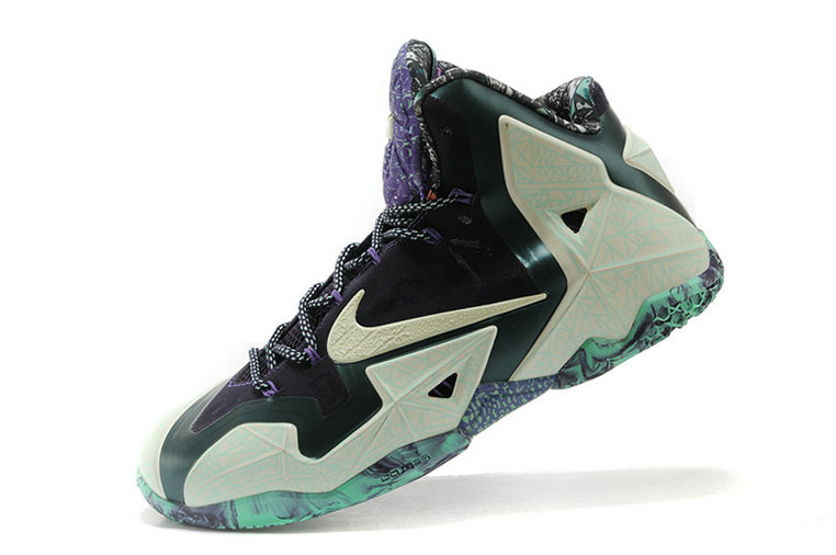 Nike LeBron 11 ALL-STAR Cashmere Green Glow-Purple Dynasty For Sale