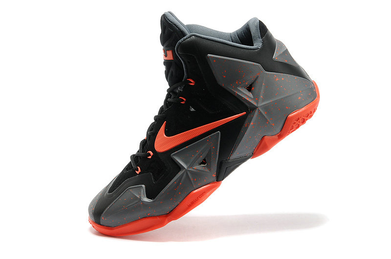 Nike LeBron 11 Dark Grey-Black-Orange Online For Sale