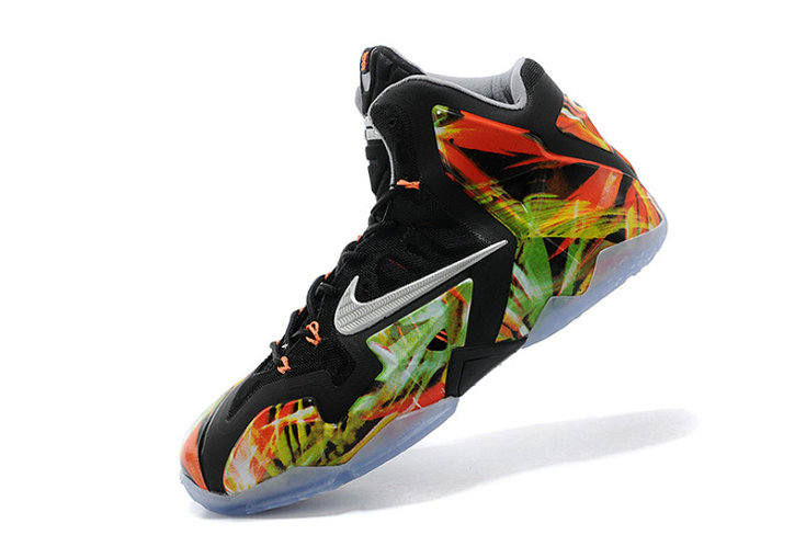 Nike LeBron 11 Everglades Black Metallic Silver-Wolf Grey-Atomic Mint For Sale