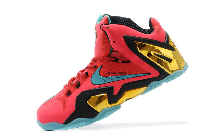 Nike LeBron 11 Elite Hero Laser Crimson Turbo Green-Black For Sale