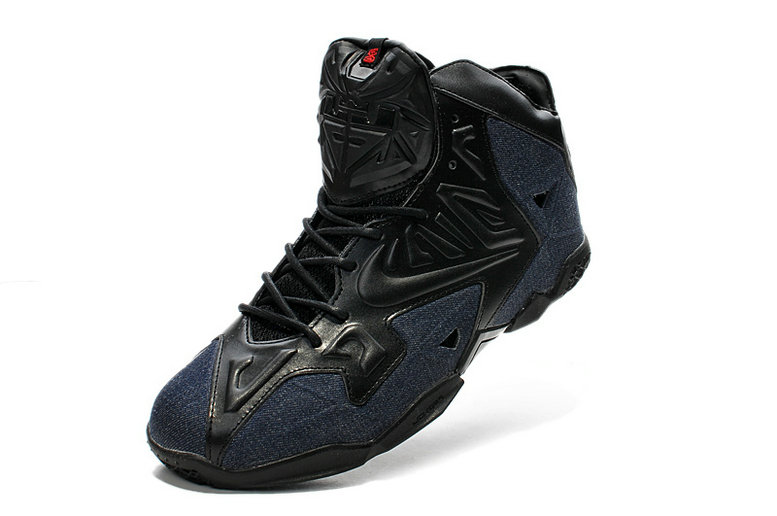 Nike LeBron 11 EXT Denim QS Black Black-Denim For Sale Online