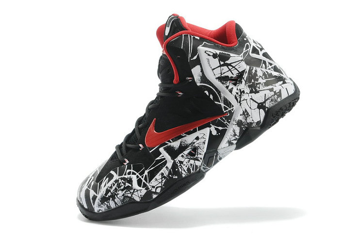Nike LeBron 11 Graffiti White University Red-Black For Sale Online