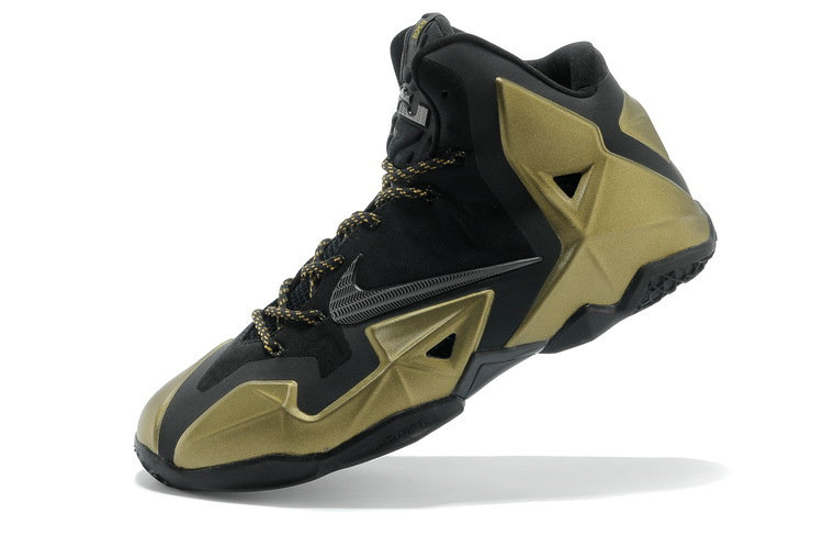Shop Nike LeBron 11 Black Metallic Gold For Sale Online