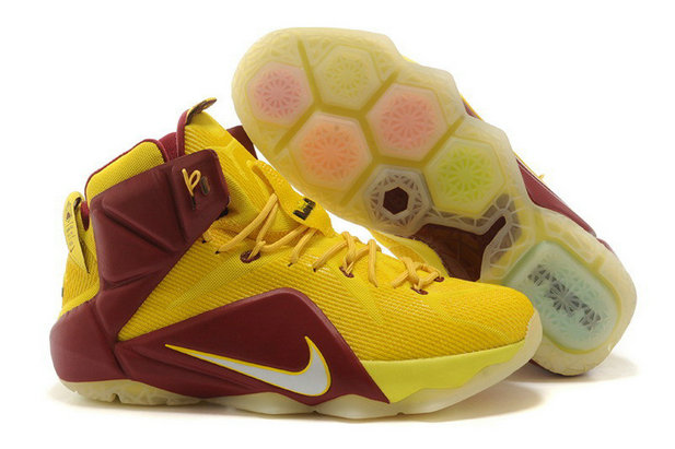 Cheap Wholesale Nike LeBron 12 For6iven Away University Gold Light Crimson For Sale Online