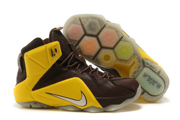 Cheap Wholesale Nike LeBron 12 For6iven Dark Crimson University Gold For Sale Online