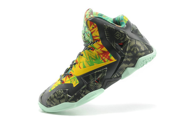 Shop Nike LeBron 11 Kings Ring Black-Yellow Red Maple Online