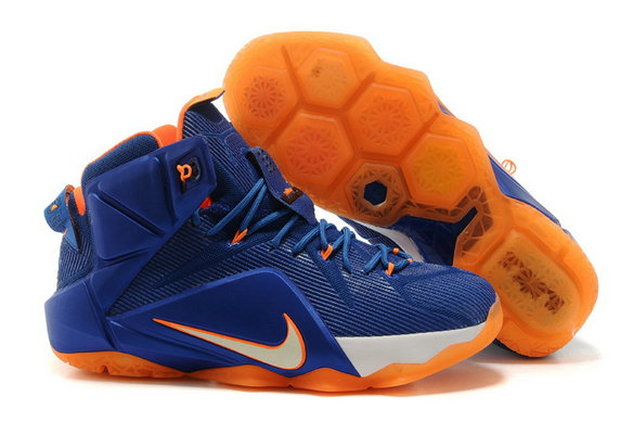 Cheap Wholesale Nike LeBron 12 Hardwood Classics Varsity Royal Team Orange-White For Sale