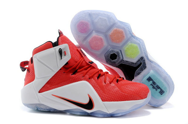 Cheap Wholesale Nike LeBron 12 Heart of a Lion Red White-Crimson-Black For Sale