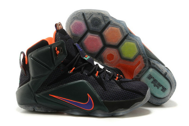 Cheap Wholesale Nike LeBron 12 Instinct Cave Purple Turquoise-Crimson For Sale