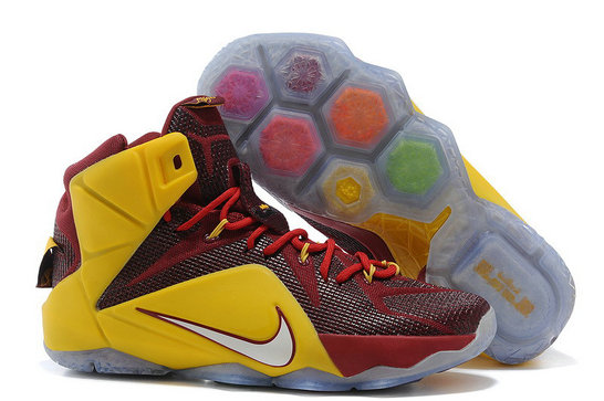 Cheap Wholesale Nike LeBron 12 New shoe Burgundy gold