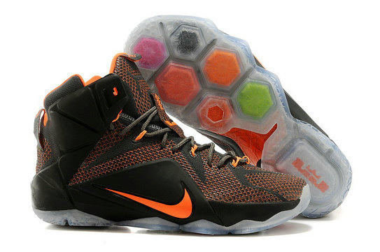 Cheap Wholesale Nike LeBron 12 New shoe Dark gray orange