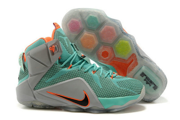 Cheap Wholesale Nike LeBron 12 NSRL Hyper Turquoise Black-Metallic Cool Grey-Hyper Crimson For Sale
