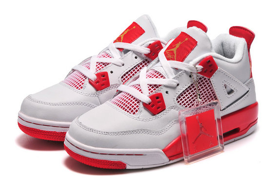 Online For Sale Carmelo Anthony Cheap Wholesale Air Jordan 4 Melo PE White Red