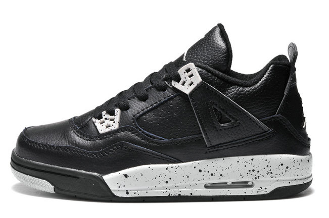 Womens Cheap Wholesale Air Jordan 4 Retro GS Oreo Remastered For 2015 For Sale