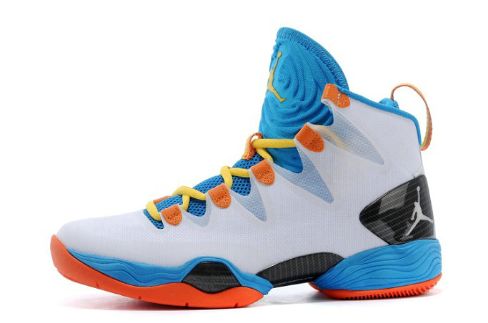 Russell Westbrook Cheap Wholesale Air Jordan XX8 SE PE White-Orange Photo Blue For Sale