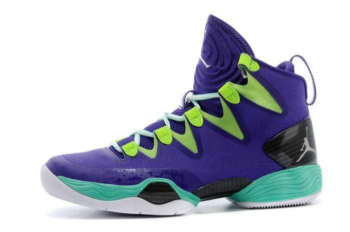 Cheap Wholesale Air Jordan XX8 SE Mardi Gras Russell Westbrook PE Court Purple Black-Flash Lime-New Green
