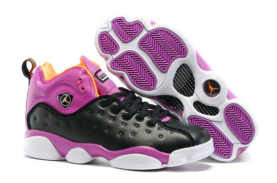 Cheap Wholesale Air Jordan Team 2 Womens Purple Black White Orange