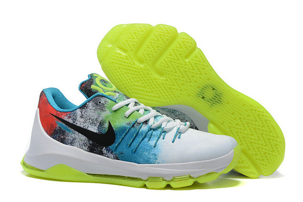 Cheap Wholesale Nike KD 8 VIII Fluorescent Green White Black Red