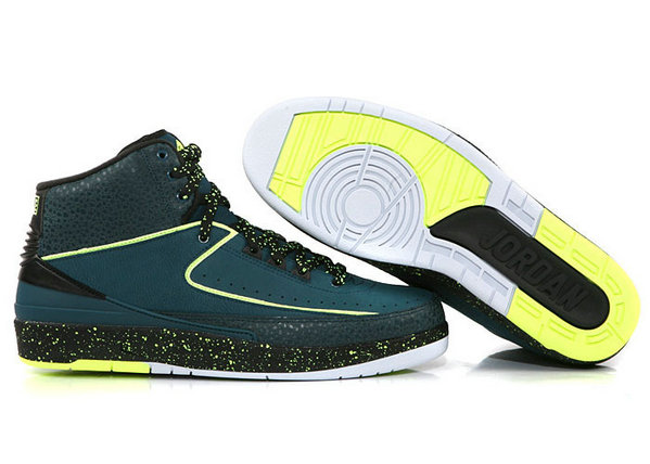 Cheap Wholesale Air Jordan 2 Aqua Blue Green Black White For Mens