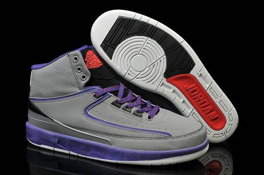 Cheap Wholesale Air Jordan 2 Purple Blue Black Red Grey For Mens